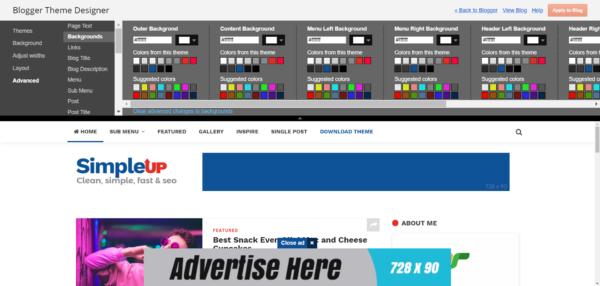 Theme Designer SimpleUP Premium Blogger Template