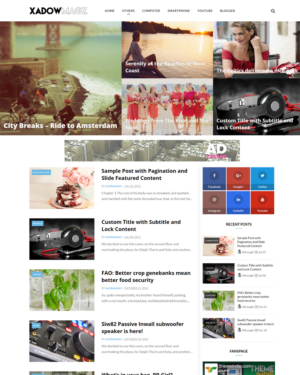 Omagazine (All Style) Premium Blogger Template