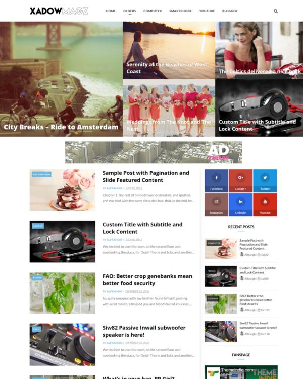 Omagazine (All Style) Premium Blogger Template