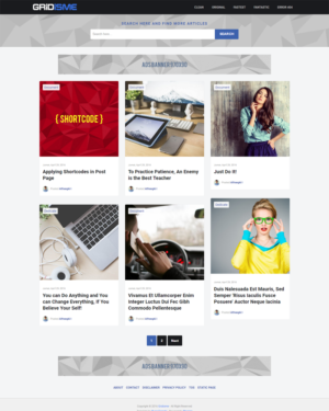 Gridisme Premium Blogger Template