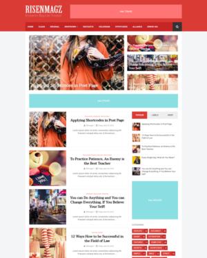 Risen Magz Premium Blogger Template