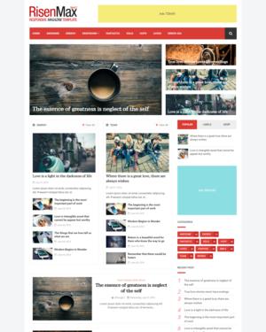 RisenMax Premium Blogger Template