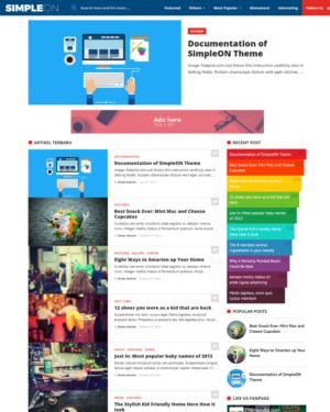 SimpleON Premium Blogger Template